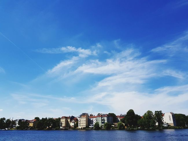 Berlin Köpenick Köpenick Cityscape Scenics Focus On Perspektive Personal Perspective Outdoors Outdoors Photography Beauty In Nature Beauty In Ordinary Things Tourism Destination Art is Everywhere Art Photography Sky And Clouds Sky Colors Light And Shadow Card Design Focus Green Color Water Blue City Tree Sky Cloud - Sky Waterfront River Calm Riverbank Human Connection
