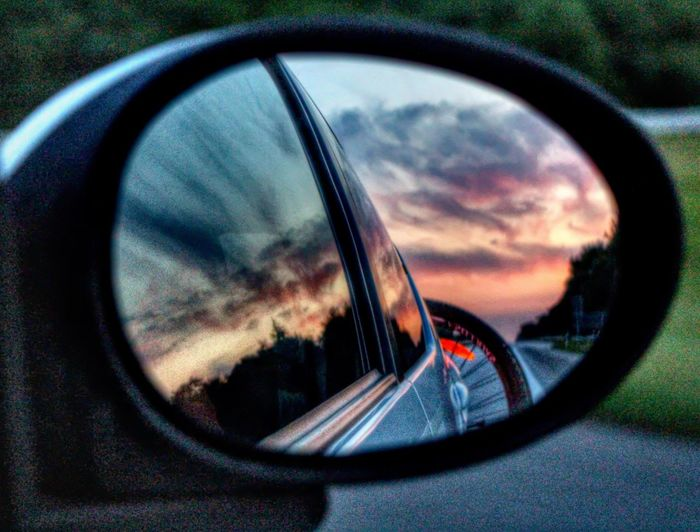 NOthIng In The Rearview Mirror LifeIsAHighway Ontheroadagain Rearviewmirror Side-view Mirror Look Behind Sky Skyisonfire Sky Is On Fire Nice Pic Vehicle Mirror Cloud - Sky Cloudporn Sky_collection Hdroftheday Hdrlovers Hdr_gallery Clouds And Sunset  Sunsetporn Sun_collection, Sky_collection, Cloudporn, Skyporn