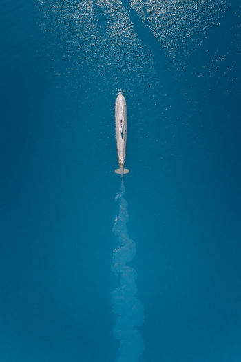 Submarine with trail