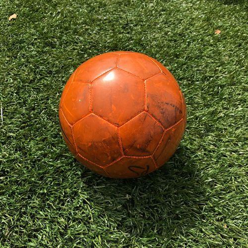 Close-up of ball on grassland