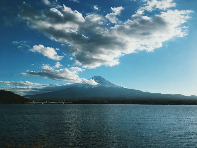 Fuji Iphone6s Photography Scenics Tranquil Scene Cloud - Sky Landscape Mountain Range