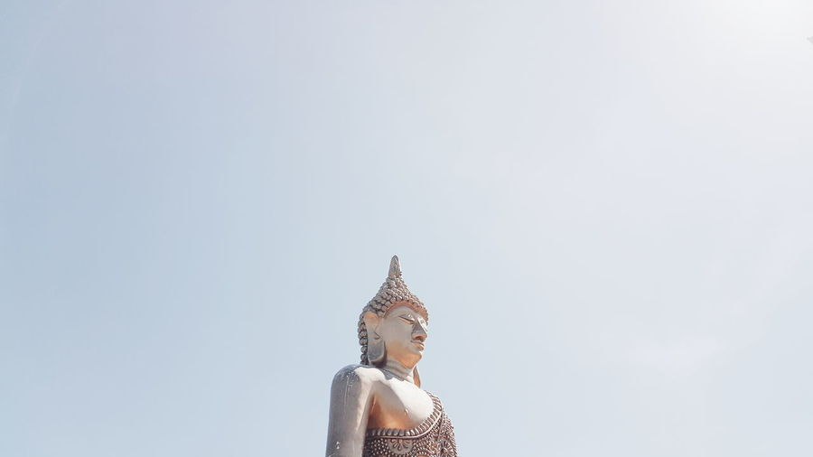 Low angle view of statue of buddha