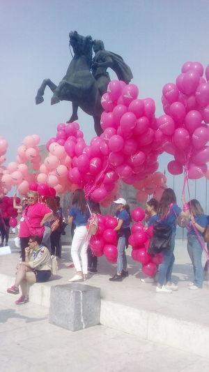 City Balloon Celebration Pink Color Sky Helium Balloon Hot Air Balloon