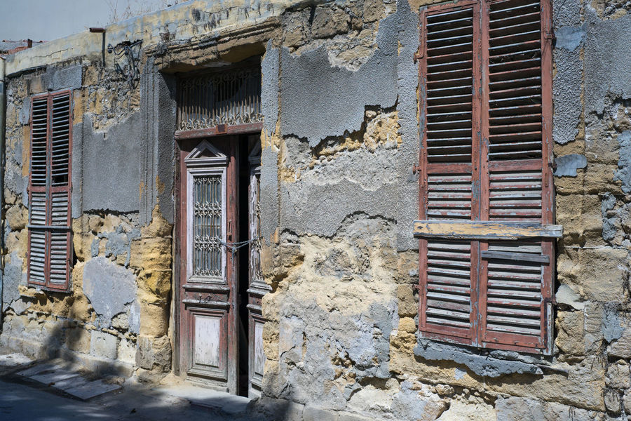 Architecture Brick Wall Building Exterior Built Structure Damaged Day Exterior Façade No People Outdoors Peeling Traditional Greek Architecture Weathered Window
