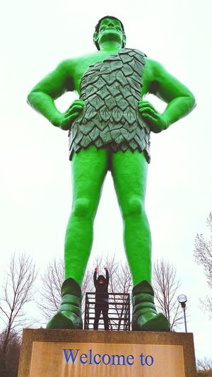Green Color People One Person Adults Only Adult Day EyeEm Gallery Finding New Frontiers Wow_america_landscape Celebrate Your Ride EyeEm Nature Lover Giant Minnesota Statues And Monuments Funtimes Roadtrip Sohappy WOW