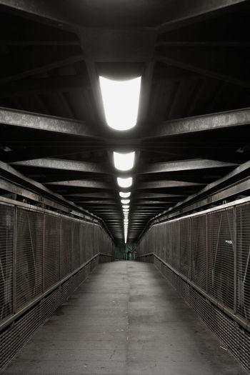 View of empty subway