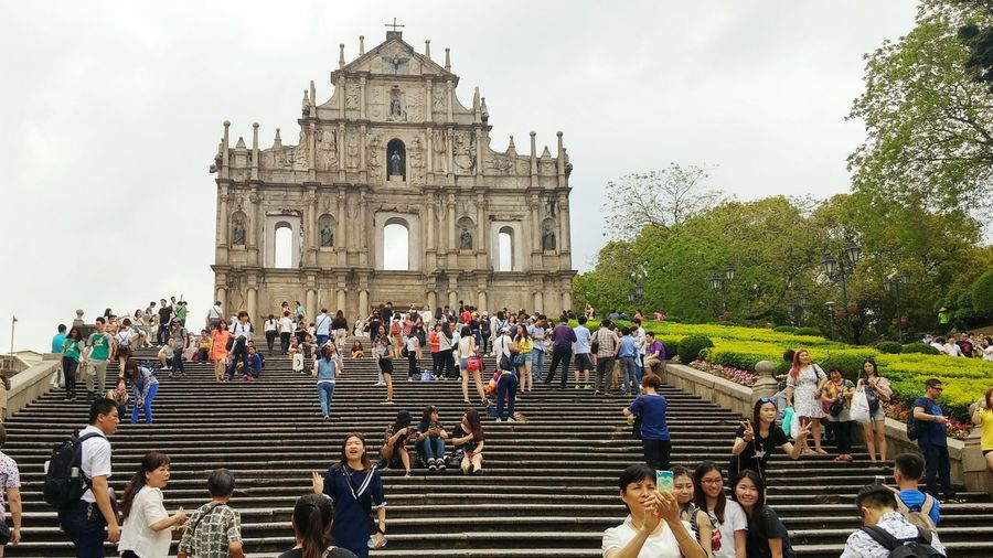 The ruins of saint paul's steps