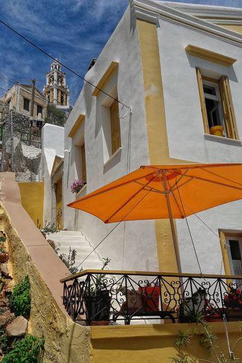 Simy Ile Grecque Architecture No People Tourism Travel Destinations