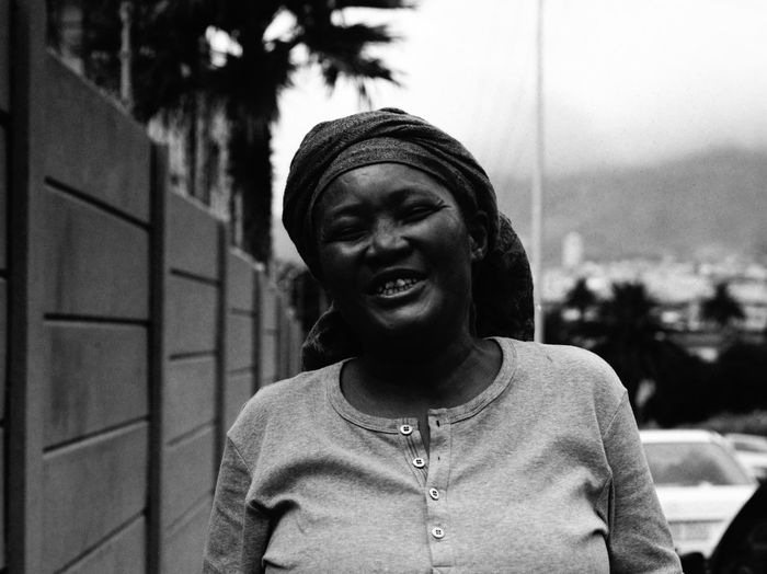 Portrait of a Homeless woman The Week Of Eyeem Mamiya 645 Close-up Day Happiness Homeless Medium Format One Person Outdoors People Real People Smile Smiling Stranger Streetphotography Young Adult Young Women