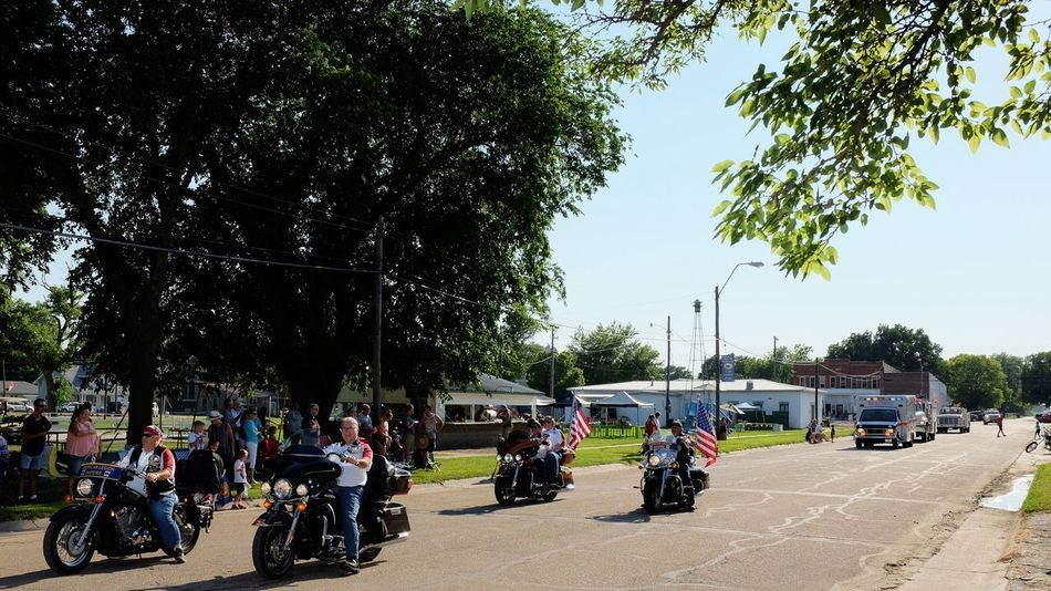 Old Settlers Picnic - Village of Western, Nebraska July 21, 2018 Always Making Photographs Americans Bikers Camera Work Community Event Getty Images Photo Essay Rural America Village Of Western, Nebraska Visual Journal Watching A Parade City Crowd Day Eye For Photography Fujifilm_xseries Group Of People Land Vehicle Large Group Of People Leisure Activity Long Form Storytelling Men Mode Of Transportation Motorcycles My Neighborhood Nature Old Settlers Picnic Old Settlers Picnic 2018 Outdoors Parade Photo Diary Plant Real People Road S.ramos July 2018 Sitting Sky Small Town Stories Street Transportation Tree Veterans Women