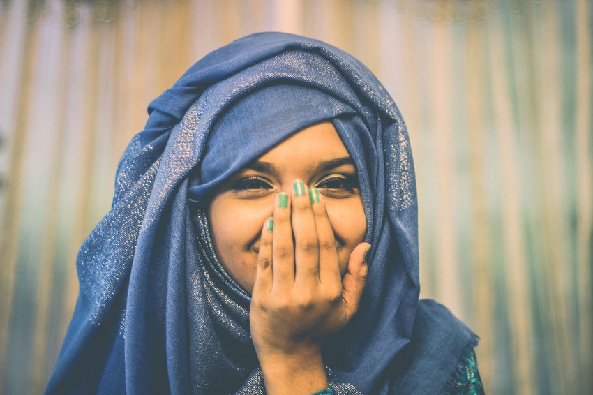 Theportraitist-2016eyeemawards Marjuka Suhaima! Girl with chubby cheeks trying to hide her Smile. Enjoy The New Normal Expressive Dramatic Portrait Cheerful Portrait Moments Happiness Smiling Celebration Chittagong Bangladesh Uniqueness The City Light