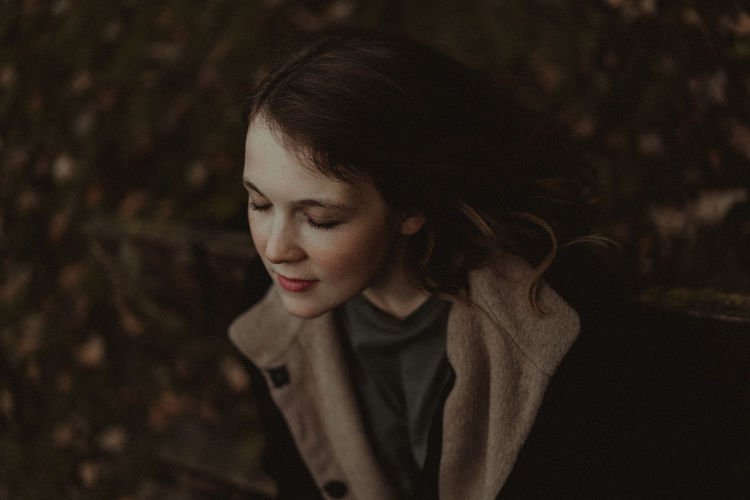 Beautiful Woman Close-up Focus On Foreground Looking Down Nature Night One Person One Young Woman Only Outdoors People Real People Young Adult Young Women