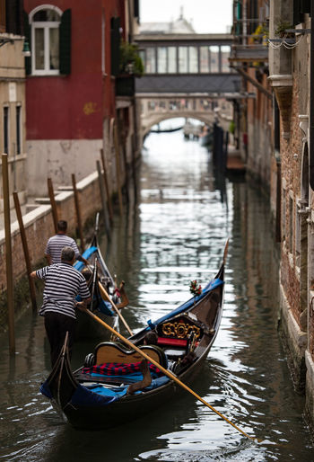 Water Canal Gondola - Traditional Boat Architecture Travel Destinations Outdoors Travel Gondolier Real People