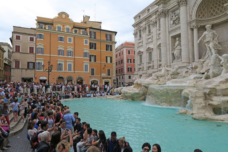People At Trevi Fountain