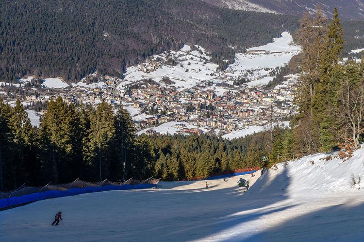 Brenta Dolomites Dolomites, Italy Slopes Trentino Alto Adige Winter Andalo Mountain Ski Slopes Snow
