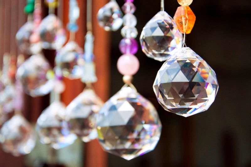 Close-Up Of Crystal Decorations