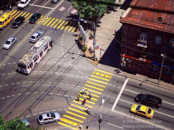 Rush hour in Yerevan. StreetsofYerevan Armenia Yerevan Street Photography Travel Hidden Gems