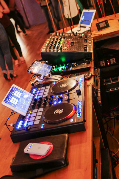 Arts Culture And Entertainment Audio Equipment Bebop Close-up Club Dj Control Panel Dj Electrical Equipment Illuminated Indoors  Mixing Music Night Nightclub Nightlife People Real People Record Recording Studio Skill  Sound Mixer Sound Recording Equipment Technology Turntable Wireless Technology
