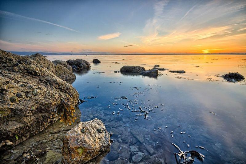 Sunset @ beach in Howth, Dublin. Cloudporn Water_collection Nature_collection Landscape_Collection