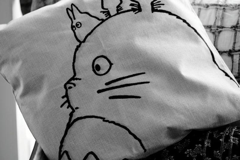 It's Totoro! Soft Furnishings Cushions  Nesting Black And White EyeEm Animal Lover EyeEm Team
