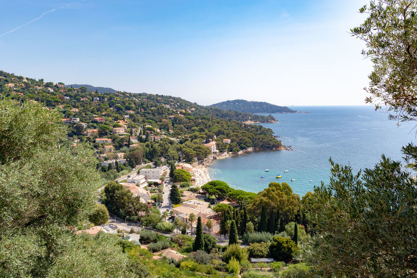 Coastline Côte D'Azur France Ile Du Levant Le Lavandou Mediterranean  Mediterranean Sea Architecture Beauty In Nature Clear Sky Day French French Riviera High Angle View Land Mountain Nature No People Outdoors Plant Scenics - Nature Sea Sky Tranquil Scene Tranquility Tree Water