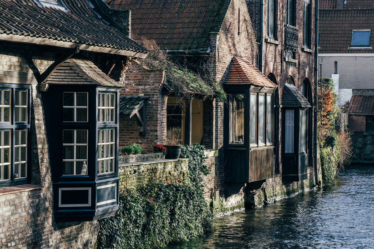 Architecture Belgium Bruges Building Exterior Built Structure Canal House Old Water