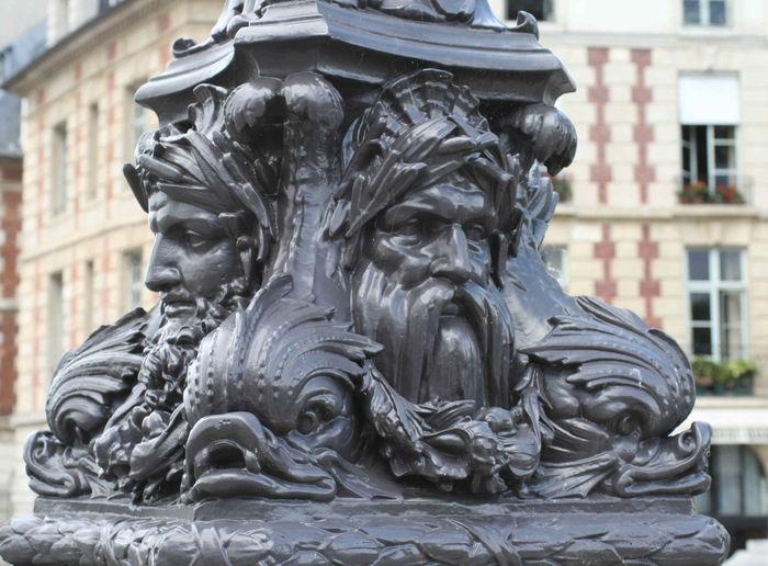 Architecture Bronze Sculpture Built Structure Close-up Closeup Human Representation Lamppost No People Sculpture Statue