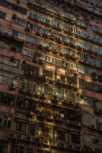 Hong Kong Streets Hong Kong Hong Kong City Apartment Architecture Backgrounds Balcony Building Building Exterior Built Structure City Day Full Frame In A Row Industry Low Angle View Nature No People Outdoors Residential District Streetphotography Transportation Travel Destinations Window