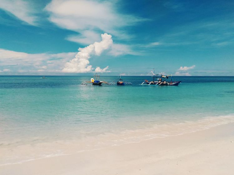 Blue Sky And Clouds Blue Sky And White Clouds Food White Sand Horizon Over Water Tranquil Scene Ocean Outdoors Tranquility Beauty In Nature No People Scenics Day Sky Nature Water Sea Cloud - Sky Vacation Summer Escape Escapade Summer Destination SUMMER BREAK Sea Sommergefühle EyeEmNewHere