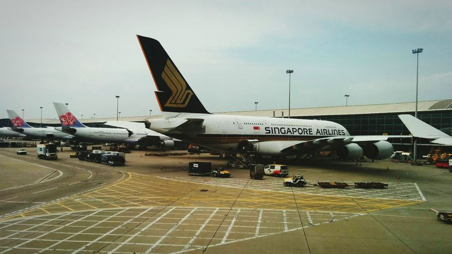 Singapore Airlines in Hongkongairport
