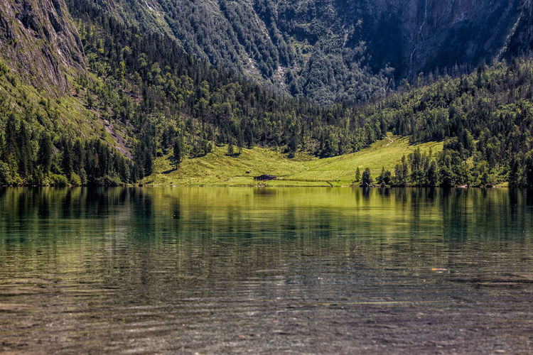 Scenic view of lake at schonau am konigsee