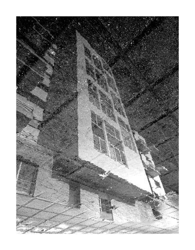Architecture Architecture Bw Blackandwhite Puddle Water Reflection Building Exterior Noir Et Blanc Sky Lines Experimental Urban City House Mobilephotography The Graphic City