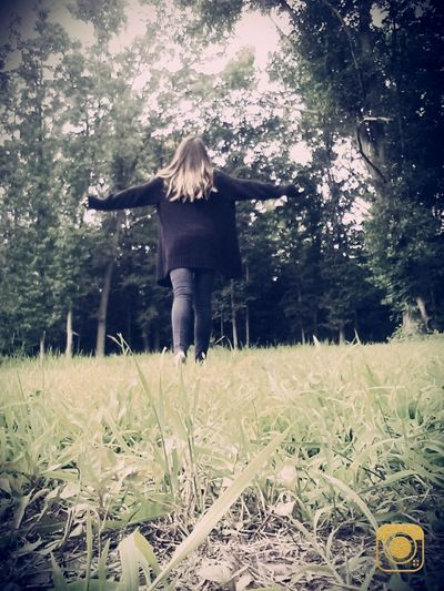 Casual Clothing Day Grass Leisure Activity Lifestyles Nature Outdoors Rear View The Way Forward Tranquil Scene Tranquility