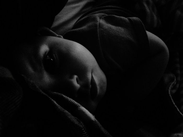 Lying Down Childhood Covering Looking At Camera Baby Peek-a-boo Hello Beautiful Blackandwhite Bedtime Art Is Everywhere The Portraitist - 2017 EyeEm Awards The Photojournalist - 2017 EyeEm Awards