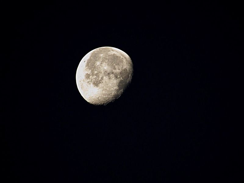 Moon Moon Surface Astronomy Planetary Moon Morning Nature Low Angle View Beauty In Nature Scenics No People Clear Sky