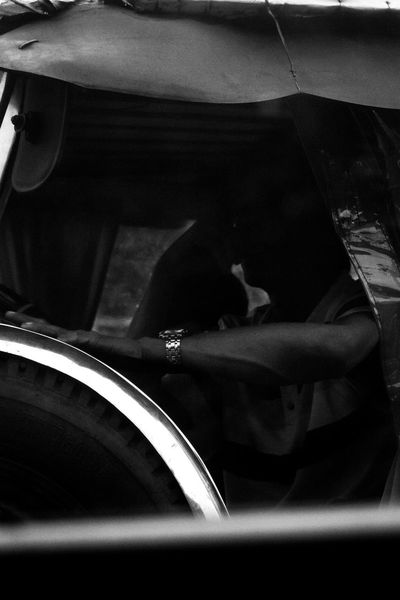 Black & White Photography Full Length Day People Men Real People One Man Only Scenics Moody Photography Moodygrams Mood Captures Transportation Land Vehicle Mode Of Transport Car Low Section One Person Vehicle Seat Sitting Indoors  Close-up Human Hand Young Adult