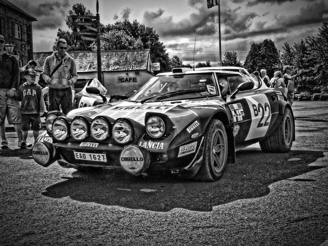 Car Land Vehicle Transportation Street Day Outdoors Sky Stratos Lancia Mallory Blackandwhite LDR