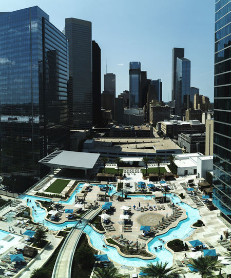 Texas Architecture Building Building Exterior Built Structure City City Life Cityscape Day Financial District  Luxury Modern Nature No People Office Office Building Exterior Outdoors Sky Skyscraper Swimming Pool Tall - High Tower Travel Destinations Urban Skyline
