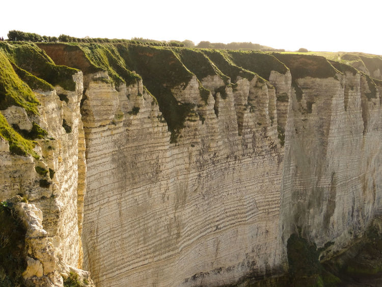 Etretat cliffs Rock Rock - Object Nature No People Geology Solid Beauty In Nature Rock Formation Day Non-urban Scene Outdoors Rough Scenics - Nature Tranquility Canyon Physical Geography Cliff Sky Travel Destinations Land Eroded Formation étretat Etretat Cliffs Normandie