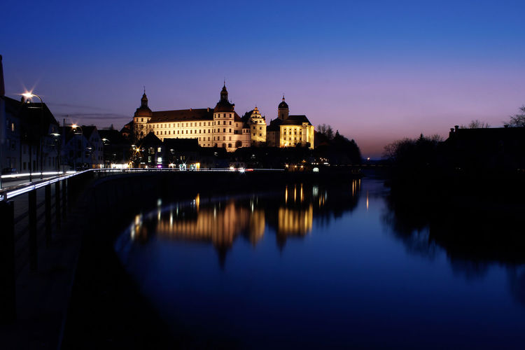 Schloss in Neuburg / Donau Castle Architecture Building Exterior Built Structure Chain Bridge City Clear Sky Dome Government Illuminated Nature Neuburg Night No People Outdoors Place Of Worship Politics And Government Reflection River Sky Sunset Travel Destinations Water Waterfront