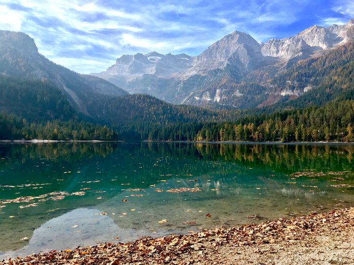 Tovel Lake - North of Italy Mountains Lake Landscape Scenics - Nature Mountain Range Beauty In Nature Water First Eyeem Photo