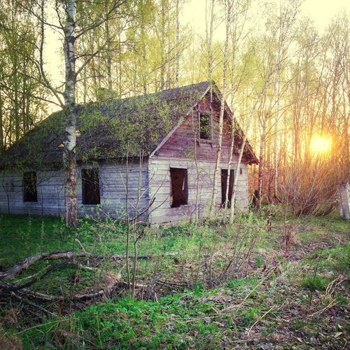 Old House Sunset Abandoned Buildings Here Belongs To Me