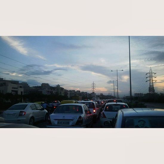 This is never gonna change in delhi ncr inspite of the developments. Noida NCR Delhi Traffic Evening Travelling India Usual Life
