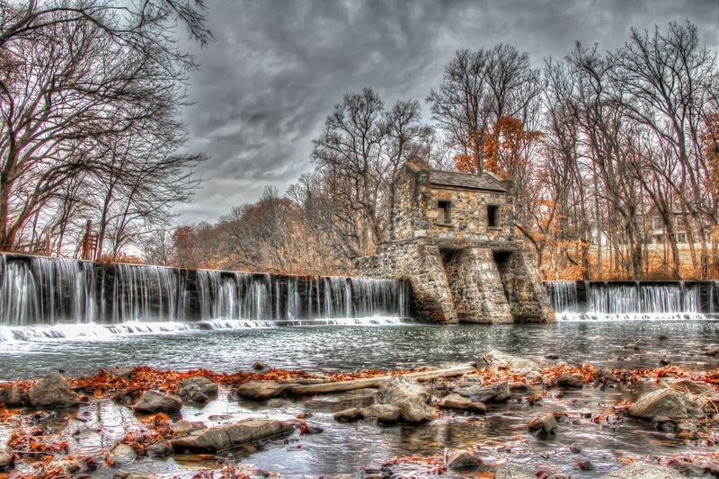 exterior daytime long exposure high dynamic range low angle stock photo of waterfall and structure at Speedwell Park in Morristown, New Jersey in Morris county Waterfall Water Lake Park Speedwellpark Speedwell Park Speedwell Morristown Nj Morriatiwn New Jersey Morris County New Jersey Photography High Dynamic Range HDR Hdrphotography Hdr_Collection Trees Exterior Snow Winter Bare Tree Pixelated Frozen Christmas Christmas Decoration Foggy Long Exposure Lakeside Falling Water Lakeshore