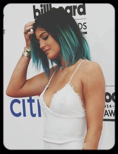 #kylie Jenner #girl #pretty #cool #blue hair
