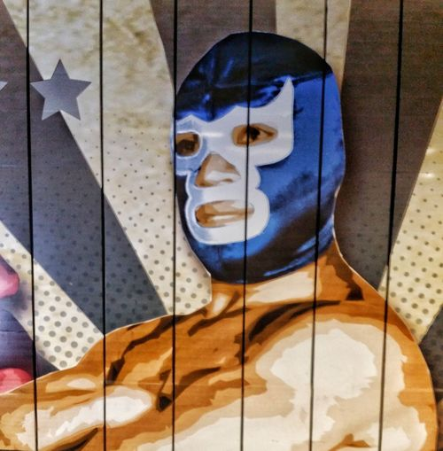Blue demon...Reflection Close-up Day No People Patriotism Outdoors Architecture Lucha Libre
