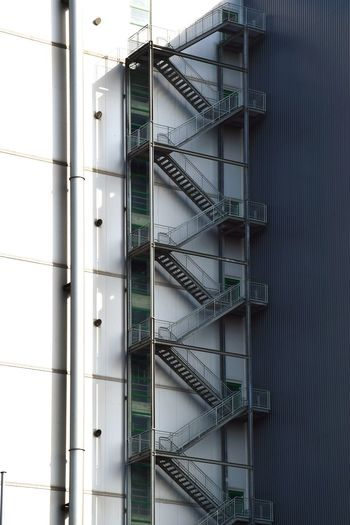 Low Angle View Of Fire Escape On Building