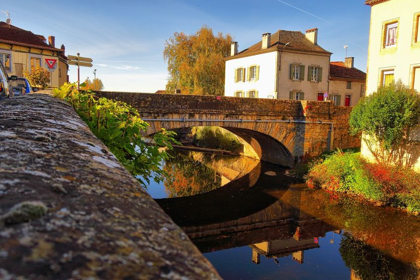 Architecture Built Structure Bridge - Man Made Structure Building Exterior Connection Water Sky Arch History Day Outdoors No People Tree Nature Saint Cere France EyeEmNewHere