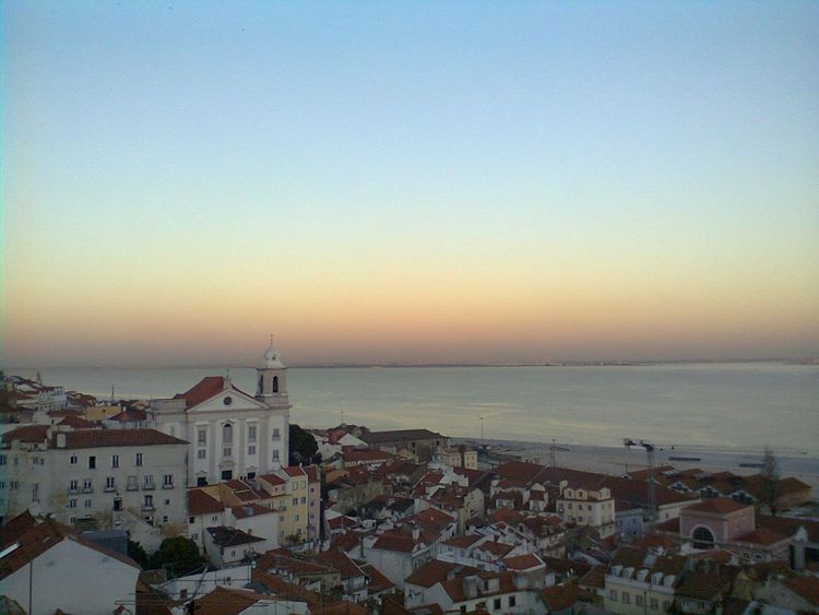 Lissabon Lisboa Portugal Portugal Is Beautiful Architecture Sea Roof Outdoors Sunset No Filter Magic Sky No People Traveller Aerial View From The Top Colour Sea View Building Exterior Travelling Flying High