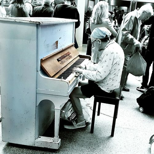 July Showcse July 2016 Man And Piano Piano Man Public Piano